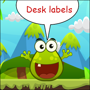 free desk labels