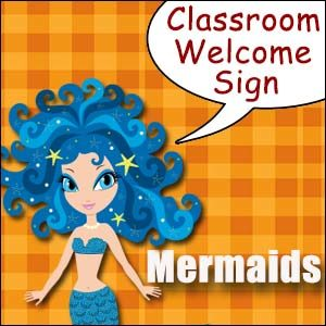 Classroom Welcome Sign Mermaid