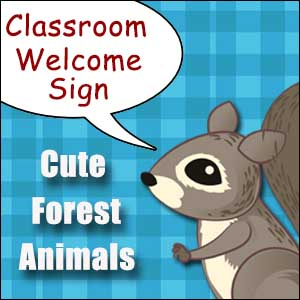 Welcome Sign for Classroom