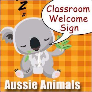 Welcome Sign Australian Animals