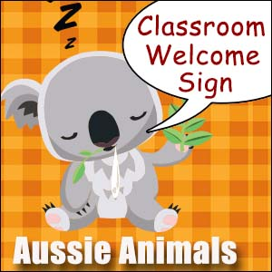 Welcome Sign Australian Animals