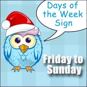 Owl - Days of the Week Signs