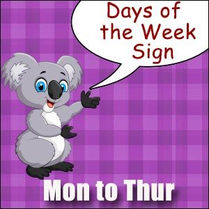 Days of the Week Classroom Sign