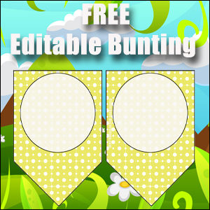 Bunting Template 1 Point - Yellow