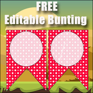 Bunting Template 2 Point - Red