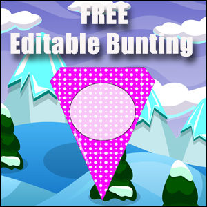 Editable Bunting - Purple & Free