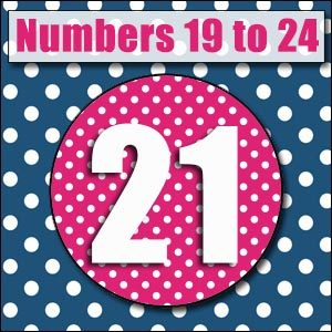 Printable Numbers - 19 to 24