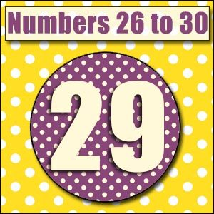 Printable Numbers - 26 to 30