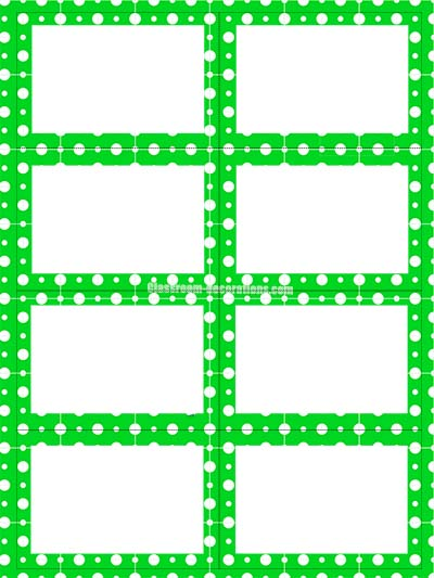 Labels - Green Polka Dots