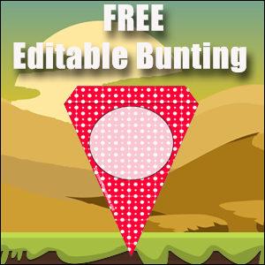 Printable Bunting Template - FREE & Editable