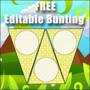 Bunting Template - Yellow