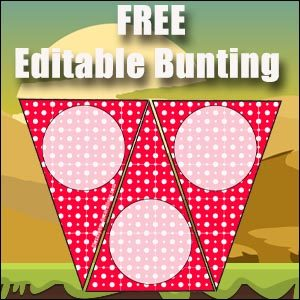 Bunting Template - Red