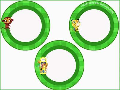 Green Circles Labels - FREE & Editable