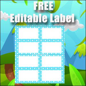 Labels - Blue Polka Dots