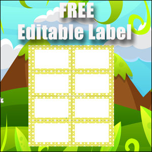 Labels - Yellow Polka Dots