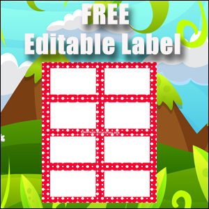 Labels - Red Polka Dots