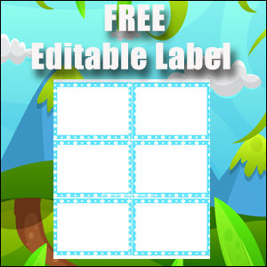 Labels 2 - Blue Polka Dots