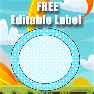 Free Classroom Sign - One Large Blue Circle