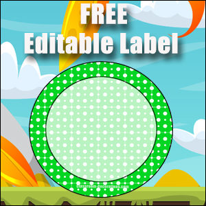 Free Classroom Sign Green Circle