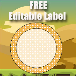 Free Classroom Sign - One Large Orange Circle