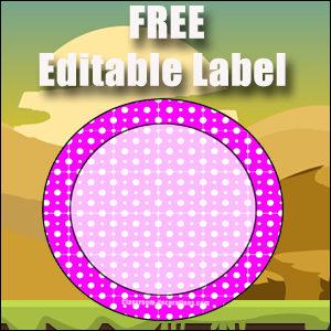 Free Classroom Sign - One Large Purple Circle