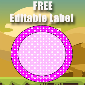 Free Classroom Sign - One Large Purple Circle