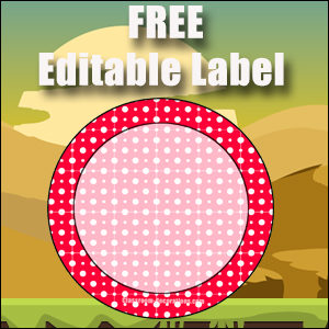 Free Classroom Sign - One Large Red Circle