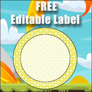 Free Classroom Sign - One Large Yellow Circle