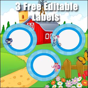 Light Blue Circles - FREE & Editable