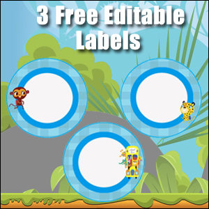 Free Classroom Signs - Light Blue Circles
