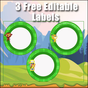 Green Circles 2 - FREE & Editable