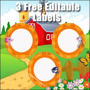 Orange Circles 2 - FREE & Editable