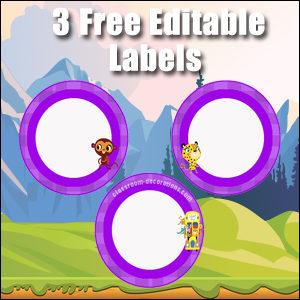 Purple Circles 2 - FREE & Editable