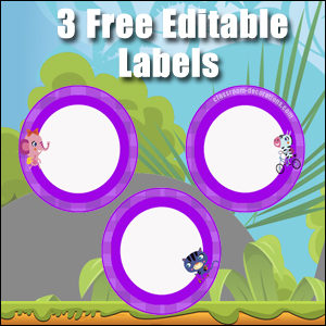 Purple Circles - FREE & Editable