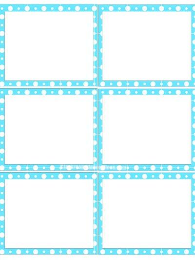 Labels 2 - Blue Polka Dots