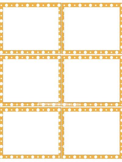 Label Template- Orange Polka Dots