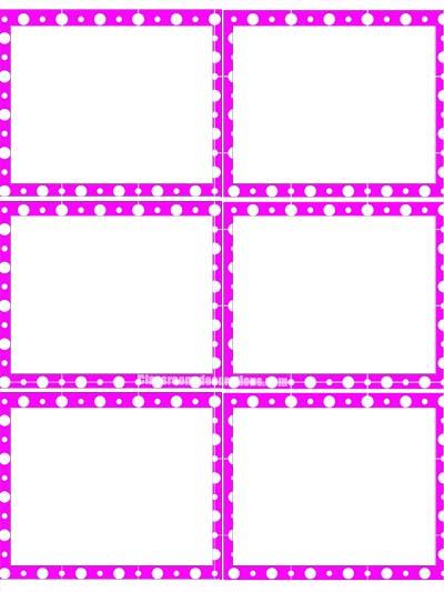 Labels 2 - Purple Polka Dots