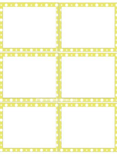 Labels 2 - Yellow Polka Dots