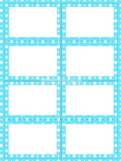 Free Labels - Blue Polka Dots
