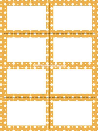 Labels - Orange Polka Dots