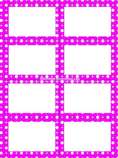 Labels - Purple Polka Dots