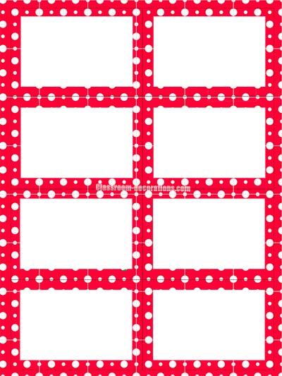 Free Label Sheet - Red Polka Dots