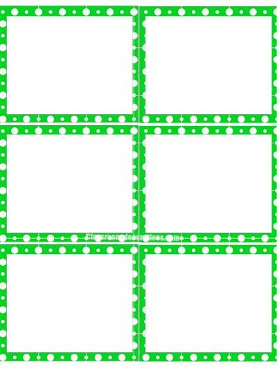Printable Labels - Green Polka Dots