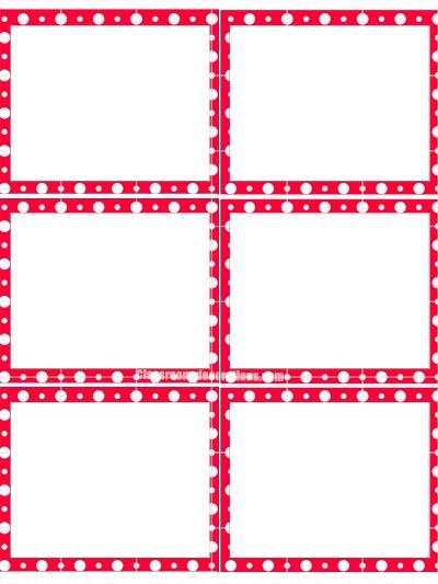 Red Polka Dot Editable Labels