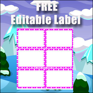 Editable Labels - Printable Free - Great for Flash Cards