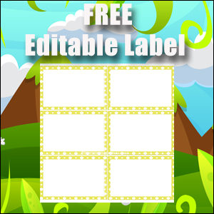 Editable Labels - Printable Free - Great for Flash Cards - Yellow