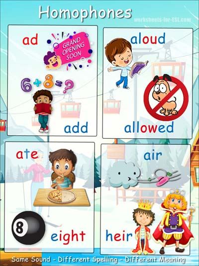 Free Homophone Posters