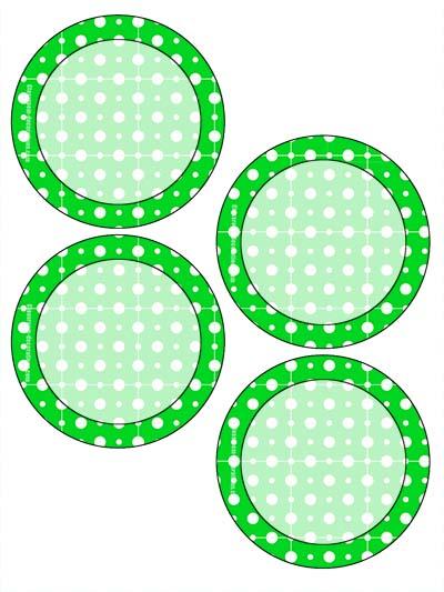 Free Classroom Sign - 4 Circles Green