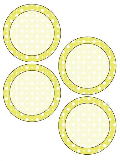Free Classroom Sign - 4 Circles Yellow