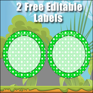 Free Classroom Sign - 2 Circles Green